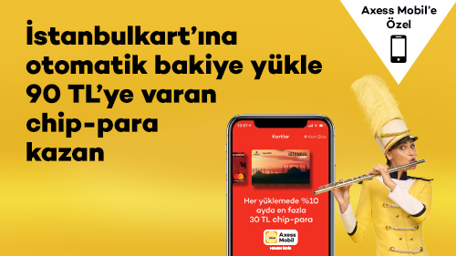 İstanbulkart'a Otomatik Yükle, 90 TL Chip-para Kazan!