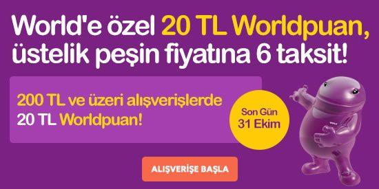 20 TL Worldpuan Hediye