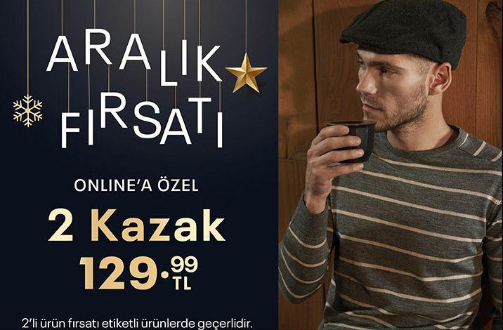 Aralık Fırsatı! 2 Kazak Sadece 129,99 TL!