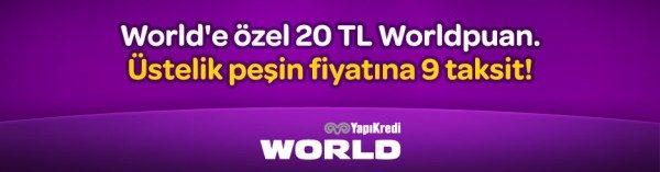 20 TL Worldpuan + Peşin Fiyatına 9 Taksit Anneluften'de