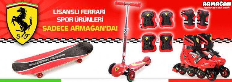 Lisanslı Ferrari Spor Ürünleri Peşin Fiyatına 3 Taksitle