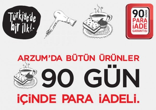 Türkiye'de İlk Kez 90 Gün Para İadesi Arzum'da