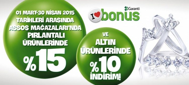 %15 Assos Pırlanta İndirim Kampanyası