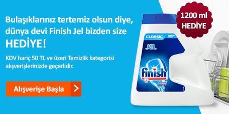 Finish Jel Bulaşık Makinesi Deterjanı Hediye!