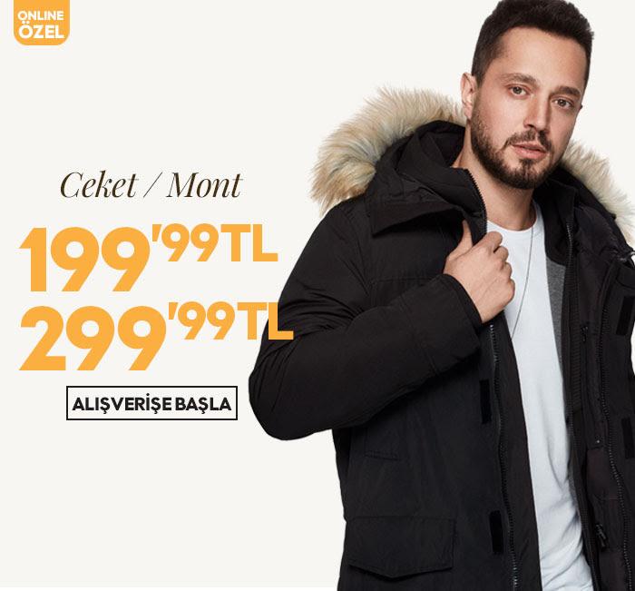 Ceket ve Mont Haftası! 199,99 TL - 299,99 TL Fiyatlar!