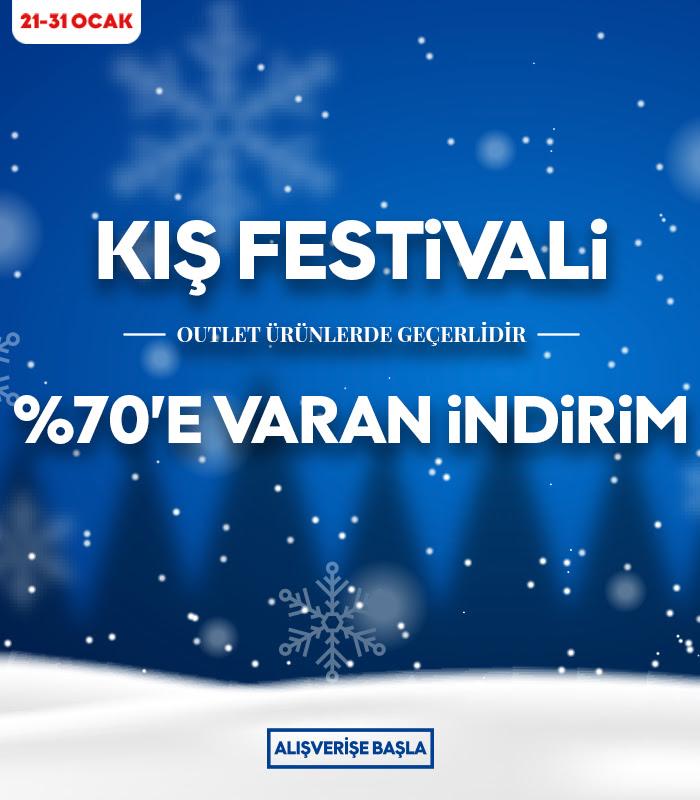 Kış Festivali %70'e Varan İndirim
