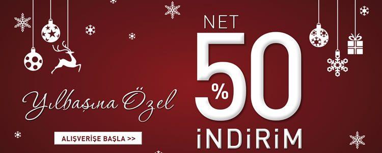 Yeni Yıla Özel Net %50 İndirim
