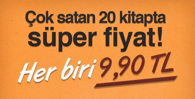 Çok Satan Kitaplarda Tek Fiyat: 9,90 TL