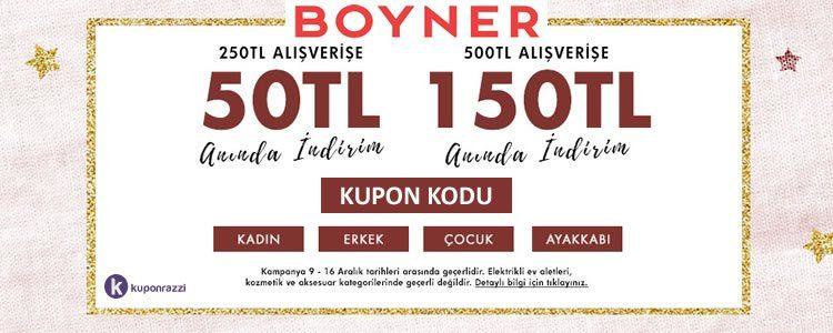 150 TL Boyner İndirim Kodu!