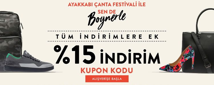 %15 Boyner İndirim Kodu ile Ayakkabı ve Çanta Festivali