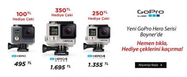 En Ucuz GoPro Hero Fiyatları ve 350 TL Boyner Hediye Çeki