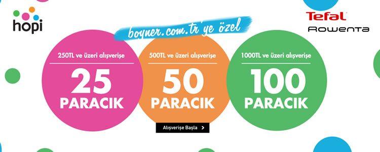 Tefal ve Rowenta Alışverişi 100 Paracık Kazandırıyor