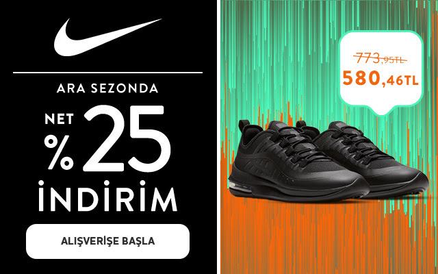 Nike'da %25 Net İndirim!