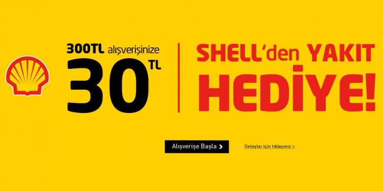 Boyner - Shell İşbirliğiyle 30 TL Akaryakıt Hediye