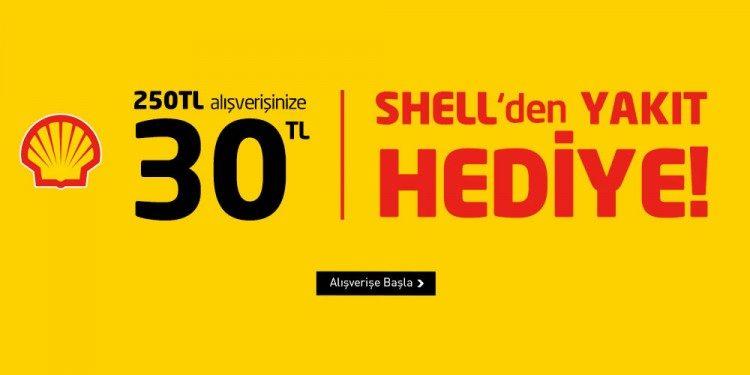 YKM - Shell İşbirliğiyle 30 TL Akaryakıt Hediye