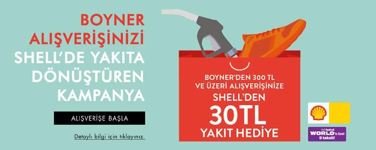 Boyner Alışverişine Shell'den Akaryakıt Hediye