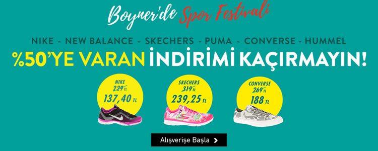 Converse, Hummel, Nike ve Skechers Ürünleriyle Spor Festivali