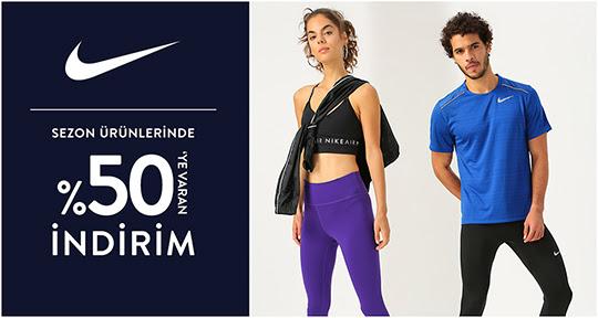 Nike'da %50'ye Varan İndirim!