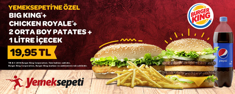 Yemeksepeti'ne Özel Burger King Kampanyası