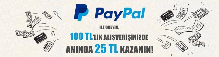 Carrefoursa Alışverişini PayPal ile Öde, Anında 25 TL Kazan