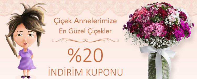 Anneler Günü'ne Özel %20 Çiçek Sepeti İndirim Kodu