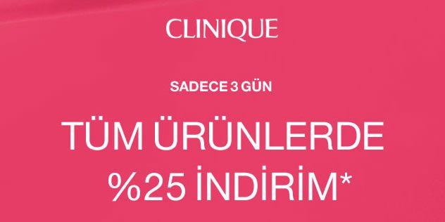Clinique Kampanya Kodu ile Çanta Hediye, Tüm Ürünlerde %25 Black Friday İndirimi