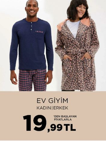 DeFacto Ev Giyimde 19.99 TL'den Başlayan Fiyatlar
