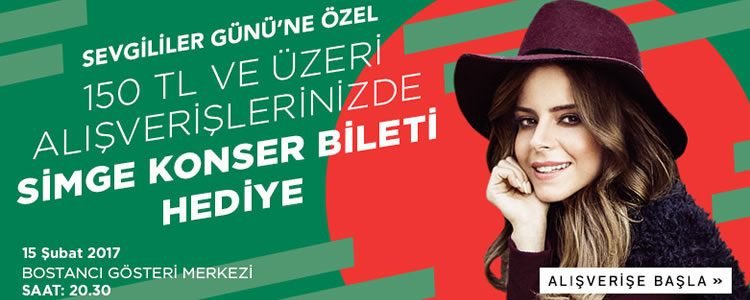 Sevgililer Günü Hediyesi: Simge Konser Bileti!