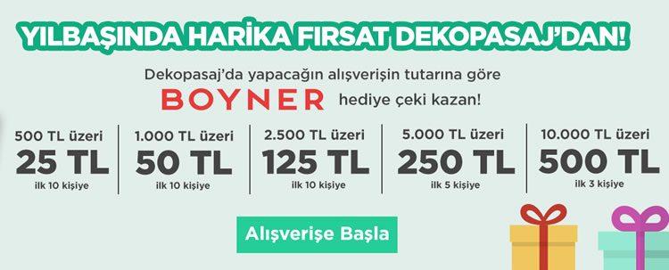 Dekopasaj'dan 500 TL'ye varan Boyner Hediye Çeki!