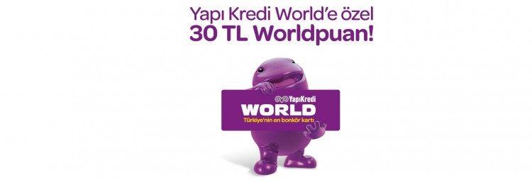 30 TL Worldpuan Hediye!
