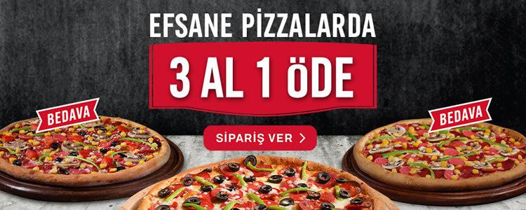 Domino's Pizza - Domino's Pizza'da 3 Al 1 Öde
