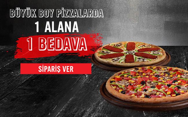 Domino's Pizza'da 1 Alana 1 Bedava!