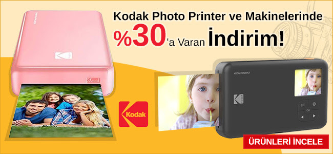 Kodak Photo Printer & Makinelerinde %30'a Varan İndirim