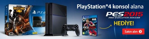 PlayStation 4 Alana PES 2015 Hediye