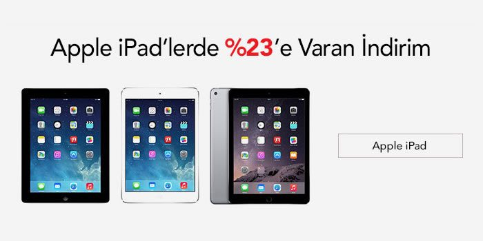 %23'e Varan Apple iPad İndirimi
