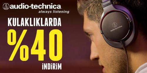 Audio-Technica Kulaklıklarda %40 İndirim