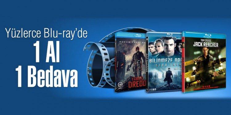 Blu-Ray Filmlerde 1 Alana 1 Bedava Fırsatı