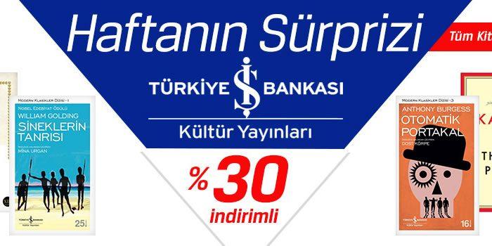 İş Bankası Kültür Yayınları'nda %30 D&R İndirimi