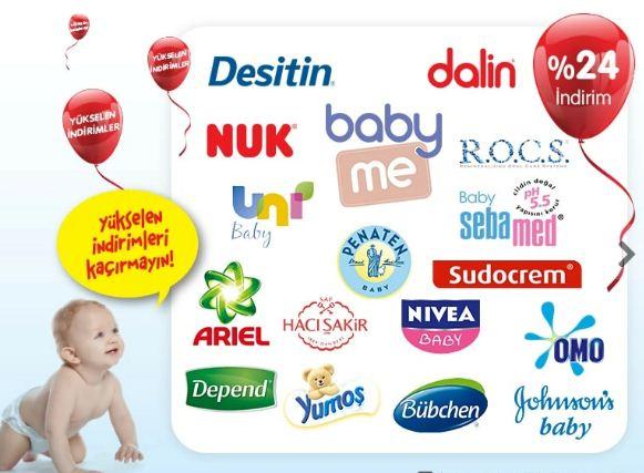 Tüm Bebek Bakım ve Temizlik Ürünlerinde %24 İndirim!