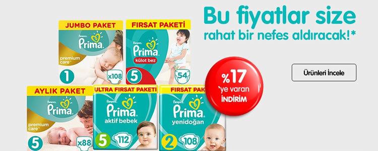 Prima Ürünlerinde Nefes Aldıran Fiyatlar