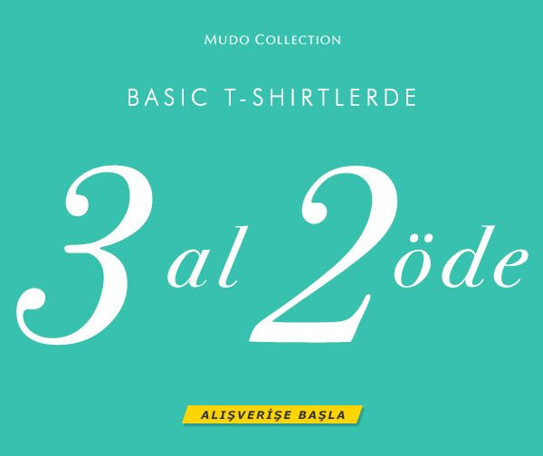 Enmoda İndirim Kodu ile Mudo Collection Basic T-Shirt'lerde 3 Al 2 Öde