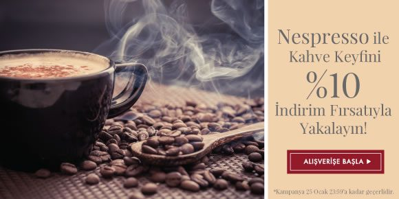 Nespresso Bugüne Özel %10 İndirimli