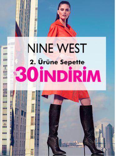 Ninewest'te İkinci Ürüne Sepette %30 İndirim!