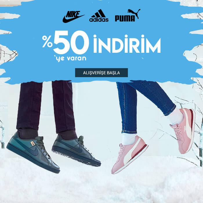 Nike, Adidas ve Puma'da %50'ye Varan İndirim
