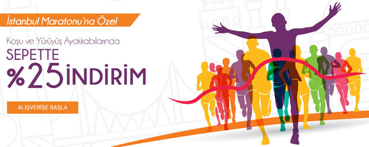 İstanbul Maratonu'na Özel %25 İndirim