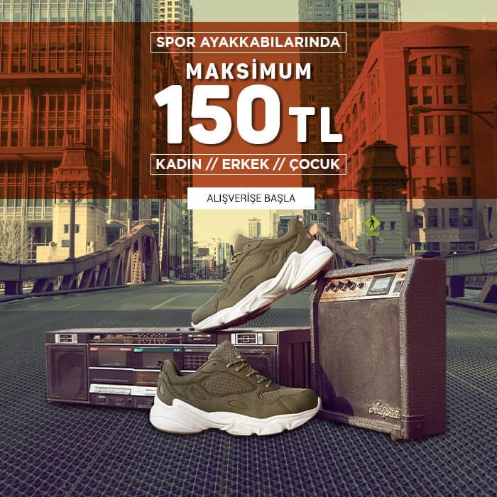 Spor Ayakkabıları Maksimum 150 TL