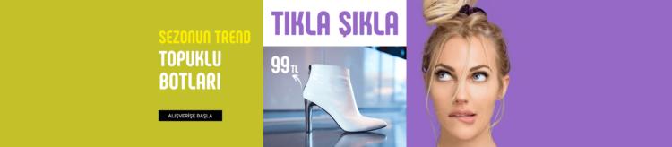 Flo'da Topuklu Botlar 99 TL'den Başlayan Fiyatlar!