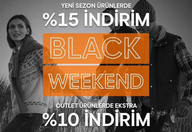 Black Weekend! Net %15 İndirimle Başladı!