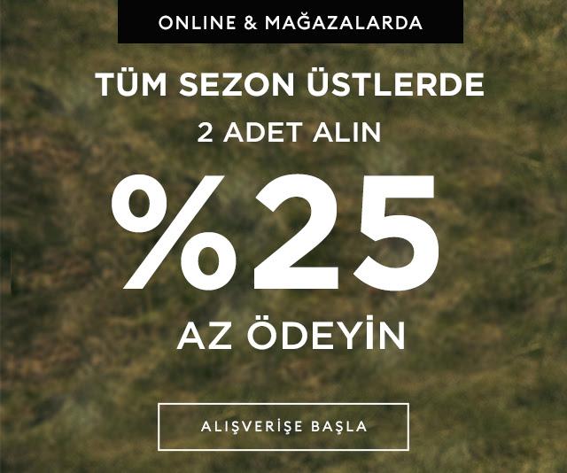 Banana Republic'te 2 Alın %25 Az Ödeyin!