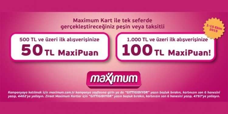 GittiGidiyor Alışverişinize 100 TL MaxiPuan Hediye!